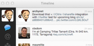 Twitter integration with the ShareFile (non Citrix) iPhone app