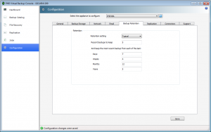 Retention tab, you can plan and chose the retention you want to use for you VM backup