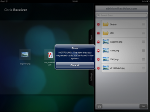 That one is a weird message I got on the ipad while name my file with ï ä and ö