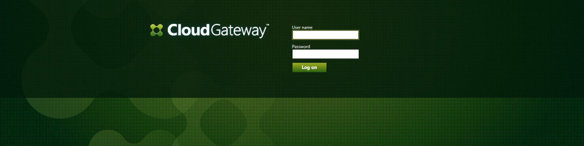 Citrix CloudGateway 2.5 – Configuration