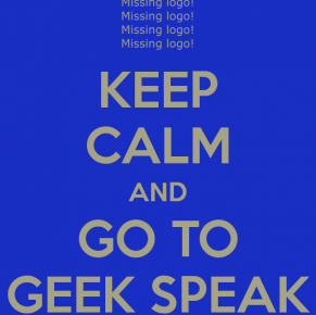 Geek Speak at Synergy